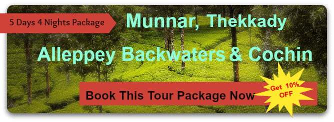 5 Days 4 Nights Munnar Alleppey Backwaters Package