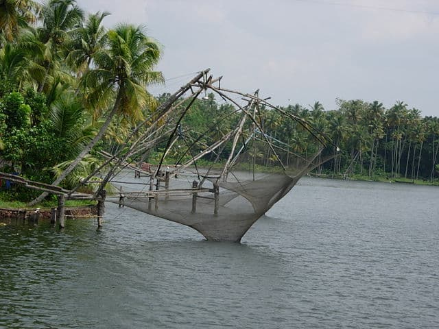 Chinese Nets Seen at Ashtamudi Lake