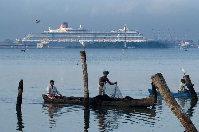 Ship Anchored at Cochin Port