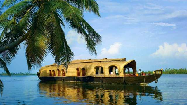 Houseboats at Kerala Backwaters