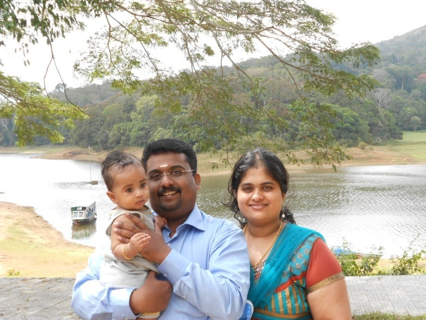 Me and my family at Periyar Reserve boating area