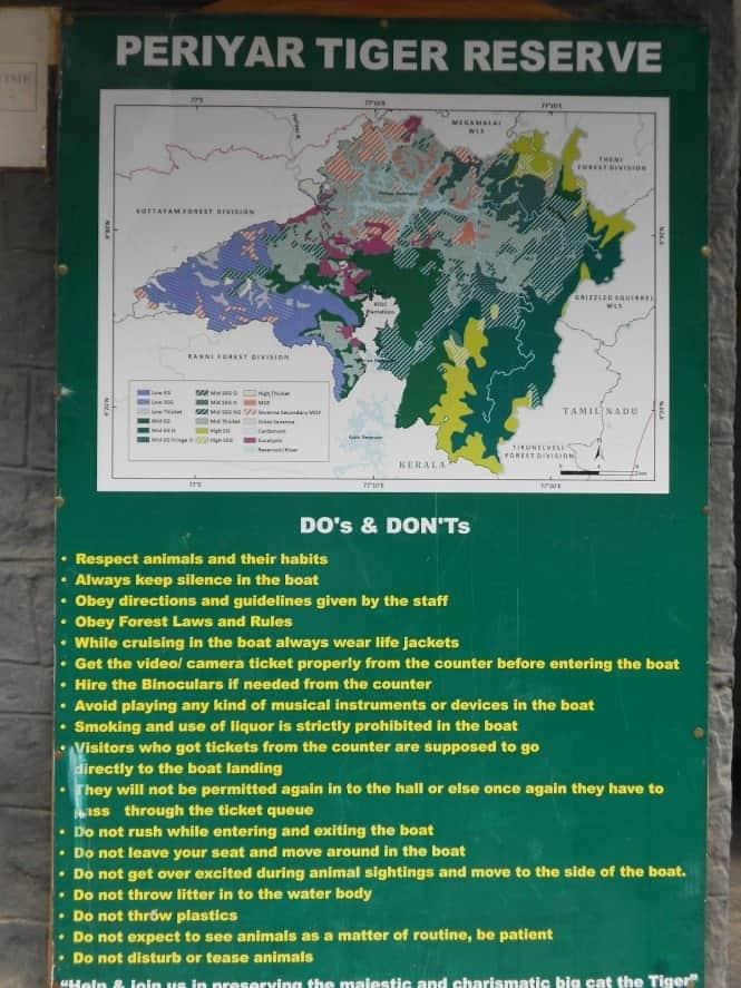 Do's and Don'ts at Periyar Tiger Reserve