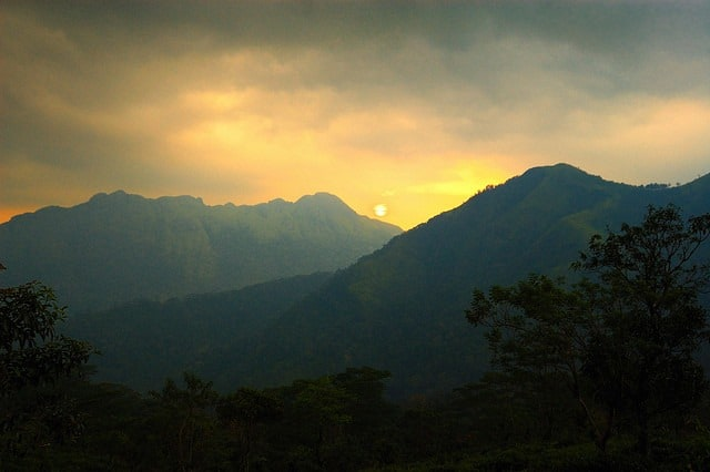 Sunset at Ponmudi