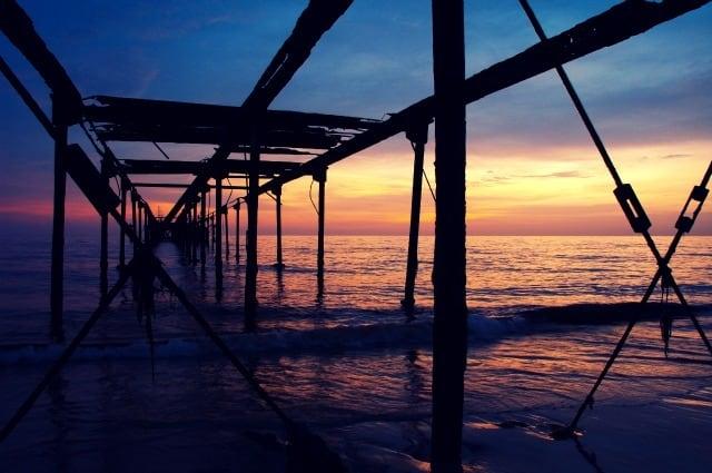 Twilight by the Kerala Beach