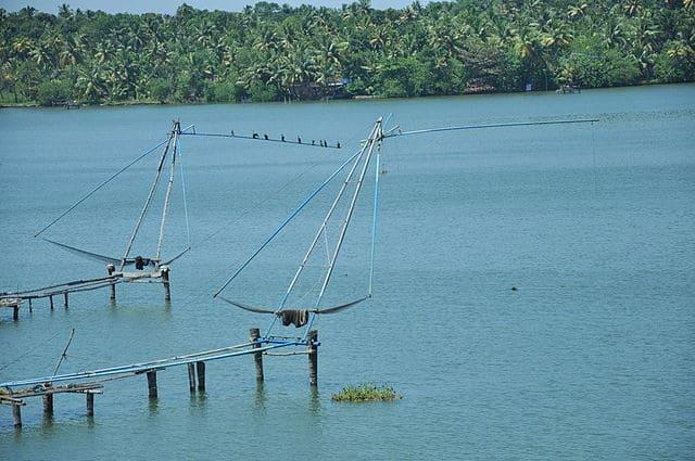 Chinese Fishing Nets at Ashtamudi Lake