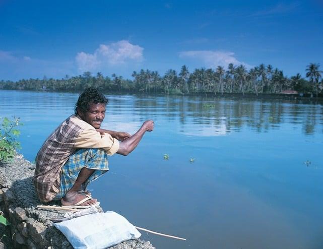Fisherman at Riverside