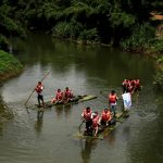 Bamboo Rafting along the River