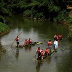 Bamboo Rafting along the River