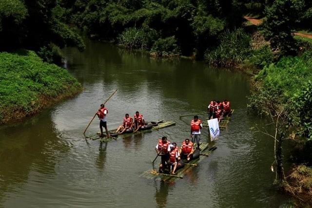 Bamboo Rafting along the Rivers