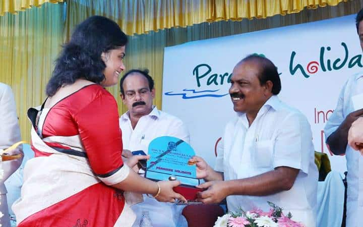 Presenting Memento to PWD Minister
