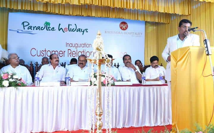 Welcoming the Dignitaries On Stage - Director Mr. Ratheesh R.Nath