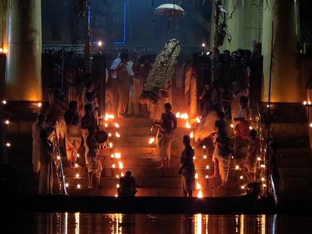 Arattupuzha Pooram Rituals - Aarattu ceremony