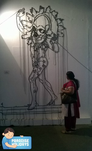 oh that's me...enjoying one of the artworks!
