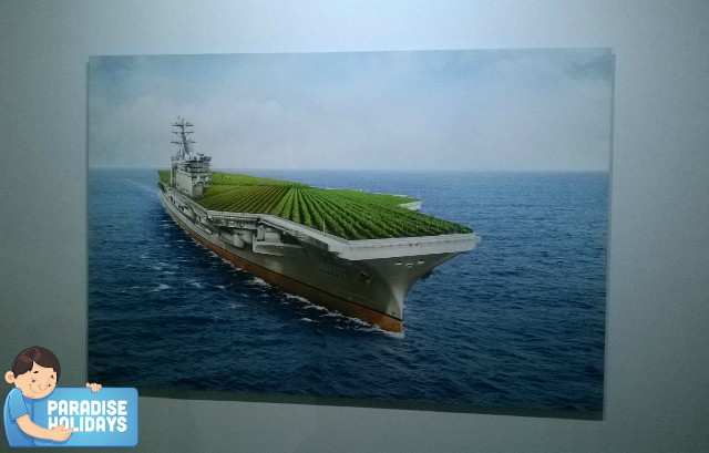 Green harvesting on ship