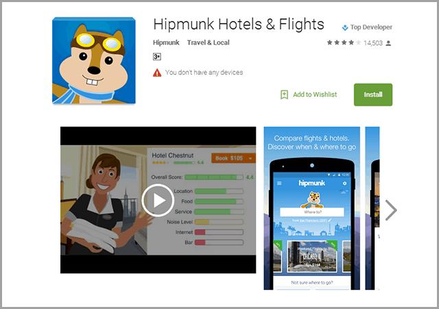 Hipmunk Flight & Hotel Search