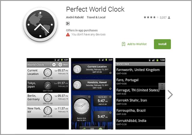 Perfect World Clock