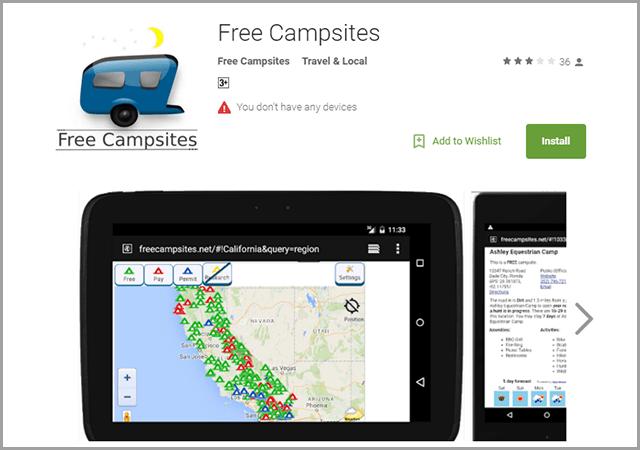 free-campsites
