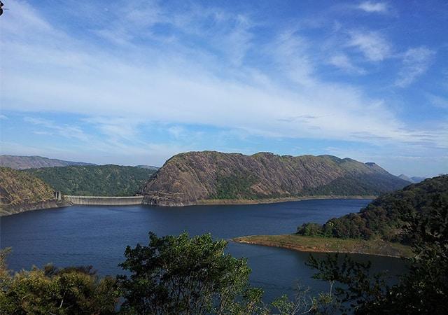 Idukki arch Dam view