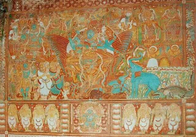 Krishnapuram Palace Gajendramoksham painting