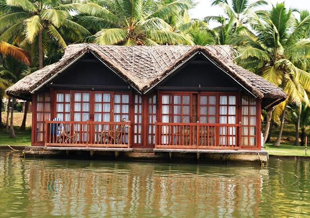 Floating cottage in Poovar Island Resort