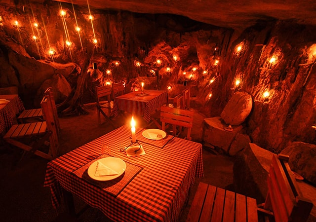 Dine at cave restaurant in Wayanad
