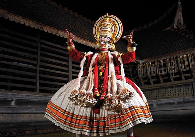 Enjoy a Kathakali performance