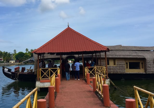 Houseboat at Kollam backwaters