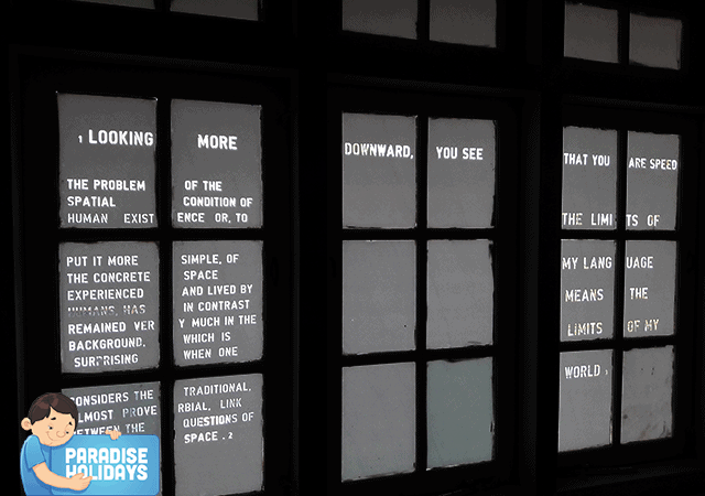 Window panes with Words
