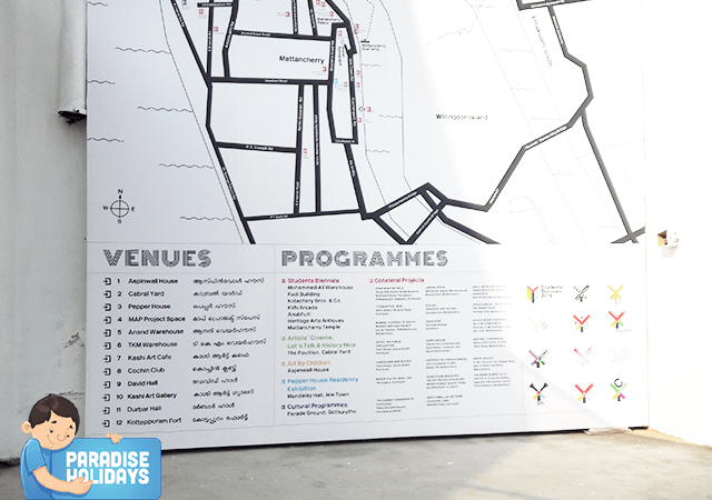 Biennale Route Map with Venues