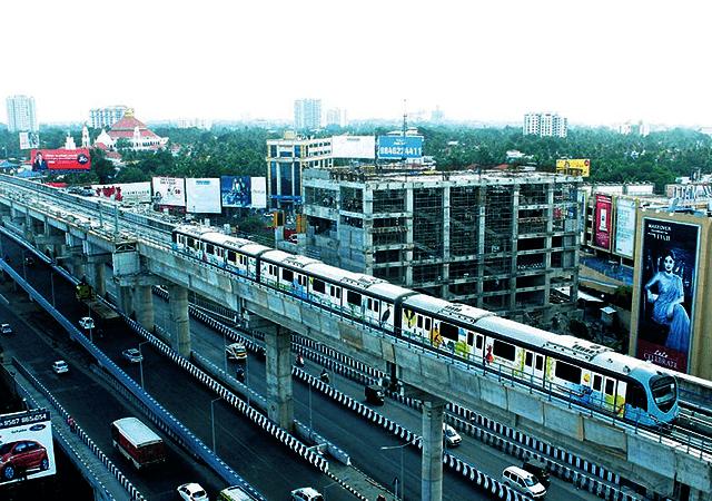 Top View of Kochi Metro