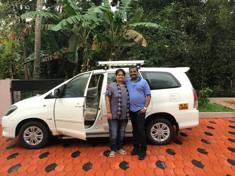 My wife Sreedevi and I started from Aluva towards Munnar.